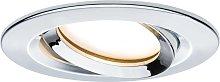 Paulmann Nova Plus foco LED, redondo, cromo