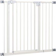 PawHut Barrera de Seguridad Metálica para Puertas