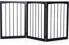 PawHut Barrera de Seguridad Plegable de 3 paneles