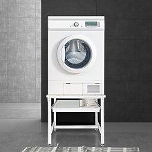 Pedestal de lavadora elevador soporte blanco