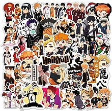 Pegatinas de anime japonés de voleibol para