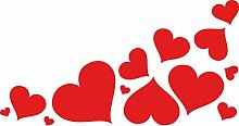 Pegatinas de corazones con diferentes tamaños –