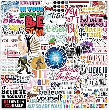 Pegatinas de frase motivacional creer en ti mismo,