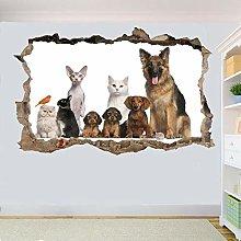 Pegatinas de pared Etiqueta de la pared Gato Perro