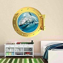 Pegatinas de pared Tiburón Océano Ojo de buey