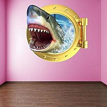 Pegatinas de pared tiburón ojo de buey pared arte