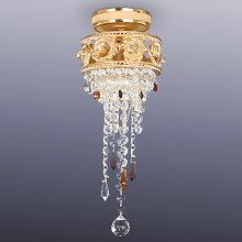 Pequeña lámpara de techo de cristal