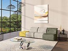Pequeño sofá rinconera relax y modular de tela