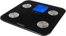 Perel Báscula de baño digital negro 180 kg