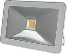 Perel - Foco LED (30 W, carcasa blanca), Blanco,