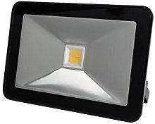 Perel - Foco LED (30 W, carcasa negra), Blanco,