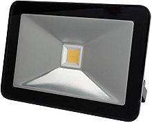 Perel - Foco LED de diseño, 50 W, carcasa negra,