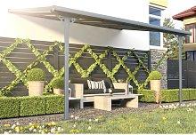 Pérgola adosada de aluminio 13,2 m² antracita