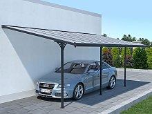 Pérgola adosada de aluminio 18,8 m² antracita