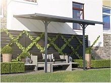 Pérgola adosada de aluminio 9,5 m² antracita