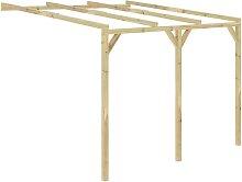 Pérgola cobertizo de madera 3x3x2,1 m - Marrón -