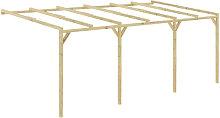 Pergola cobertizo de madera 6x3x2,1 m
