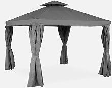 Pérgola de aluminio - Divodorum 3x3m - Lona gris