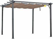 Pérgola de Aluminio Gazebo Cenador 3x3m Jardín