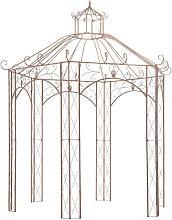 Pergola de jardin marron antiguo 3 m hierro
