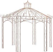 Pergola de jardin marron antiguo 4 m hierro