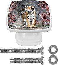 Perilla de cajón de 4 piezas Animal tigre