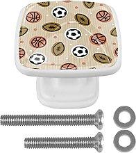 Perilla de cajón de 4 piezas Baloncesto Fútbol