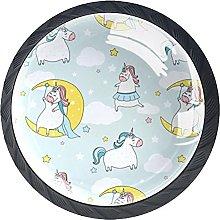 Perilla De Muebles Estrellas Luna Unicornio