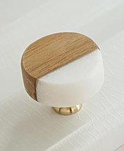 Perilla de piedra blanca para gabinete de cocina,
