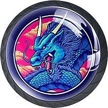 Perilla del cajón dragón Azul Redondo Tirador