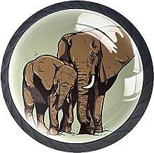 Perilla del cajón Elefante Animal Tirador para