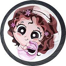 Perilla del cajón Encantadora niña Sirena