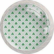 Perillas de cristal con diseño de hojas de