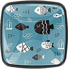Perillas de gabinete con diseño de peces Catoon,