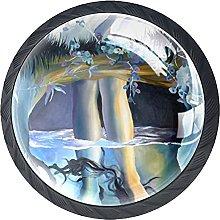 Perillas para cajones Vidrio redondo de cristal