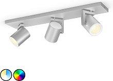 Philips Hue Argenta foco LED, 3 luces, aluminio