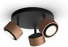 Philips myLiving 3 focos Ferano LED color bronce