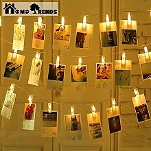 Photo Clips Led 40 Pack with String Rope free as a