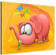 Picanova – Elephant Meet Worm 80 x 60 cm –