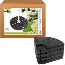 Pie parasol rellenable redondo 4 piezas Garden