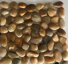Piedra de rio enmallada Beige. Malla de piedra de