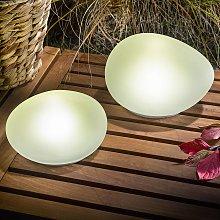Piedra LED decorativa y solar Flintstone, set 2 u.