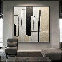 Pintado A Mano Pintura Al Óleo Simple Moderno