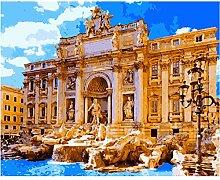 Pintar Por NumerosAdultos Ciudad Romana Deseando