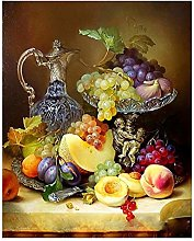 Pintar Por NumerosAdultos Fruta Durazno Bodegón