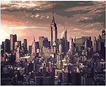 Pintar Por NumerosAdultos Tranquilo Nueva York