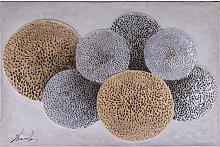 Pintura al óleo abstracta ANNABELLE - 80 x 120 cm