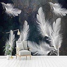 Pintura Mural 3D pluma Decoración del hogar Pared