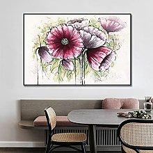 Pintura Pintada A Mano 100%,Planta De Hoja De Flor