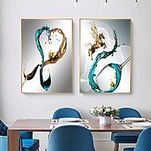 Pintura sobre lienzo Cáliz abstracto moderno